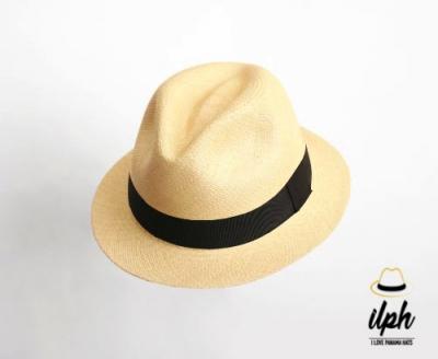 14d61aa5a33db NATURAL FEDORA SHORT BRIM -PANAMA HAT – Panama Hats Producer and ...